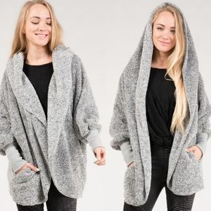NWT Fuzzy Open Front Cardigan